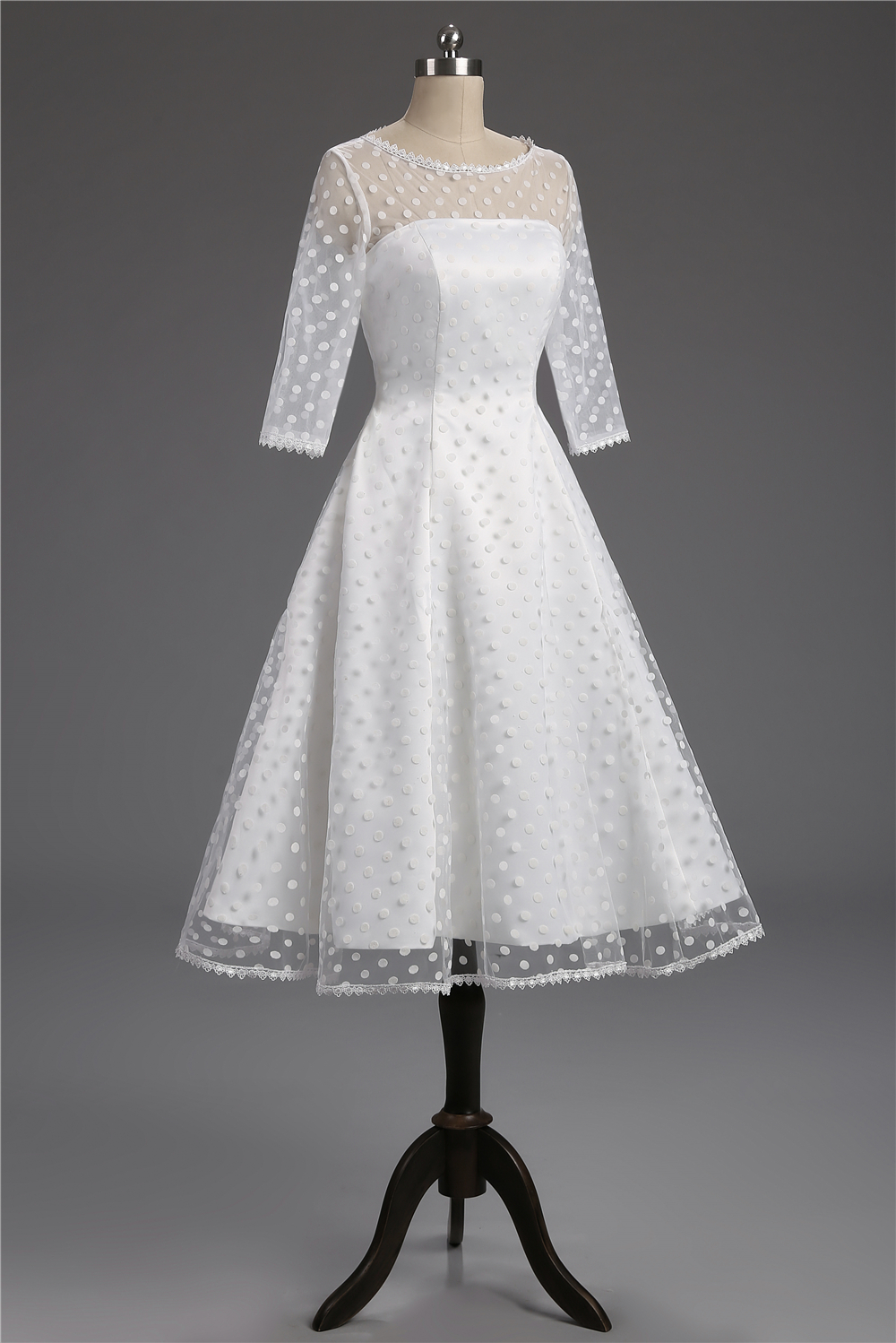 Detail Feedback Questions about Retro Polka Dotted Short Wedding ... 1530ecfc5e5d
