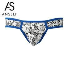 ANSELF Designed Low Waist Sexy Men Underwear Briefs Gay Penis Pouch Wonderjock Mens Bikini Brief Underwear Sleepwear Cotton Slip