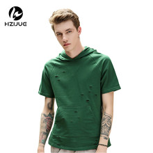 HZIJUE 2017 summer hip hop brand t shirts Original Design hip hop clothes loose street style tops male Personality t-shirt(China)