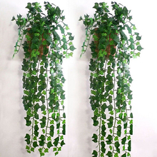 Delicate Artificial Ivy Leaf Garland Plants Vine Fake Foliage Flowers Home Decor 2.5m Beatiful Party Supplies(China)