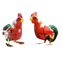 1 Pcs Cute Chicken Cock Model Clockwork Toys for Children/Adults New Tin Wind Up Toys Gift(China)