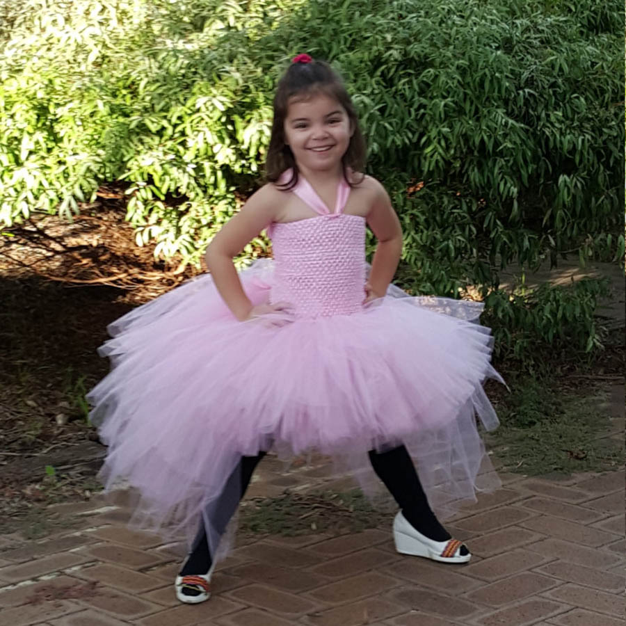 Gorgeous Light Pink Girls Tutu Dress for Photo Shoot Birthday Party Wedding Kids Dress up Costume Pink Fancy Ball Gown (5)