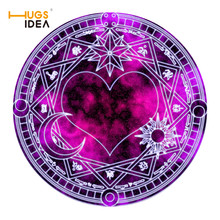 HUGSIDEA Anime Cardcaptor Sakura Carpets Children Round Tapis Home Decoration Kids Bedroom Floor Paly Mats Magic Circle Doormats