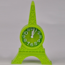Unique Design Decorative Clocks Kids Room Cute Lovely Eiffel Tower Shaped Desk Clock Mute Snooze Alarm Clock(China)