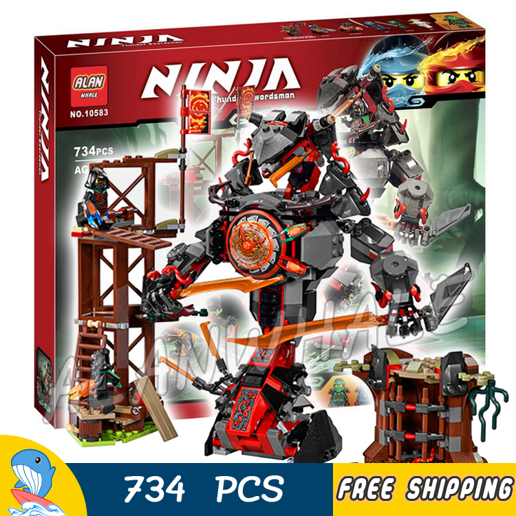 734pcs Ninja New 10583 Dawn of Iron Doom DIY Model Building Kit Blocks Toys Playset Compatible with Lego<br>