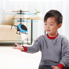 Flying Mini RC Infraed Induction Helicopter Aircraft Flashing Light Toys For Kid NEW Kids Toys Drone Wholesale&Drop Shipping(China)