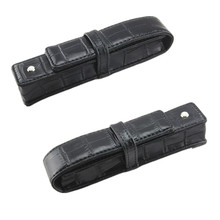Best Promotion Black Pen Or Roller Ball Fountain Pen Leather Case for Only One Pen Storage Bag Office Business People Gift