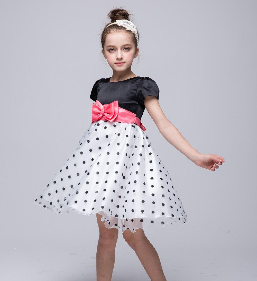 Girl Dress Summer 2017 Princess Polka Dots Tutu Wedding Birthday Party Dresses For Girls Children Costume Teenager Prom Designs<br><br>Aliexpress