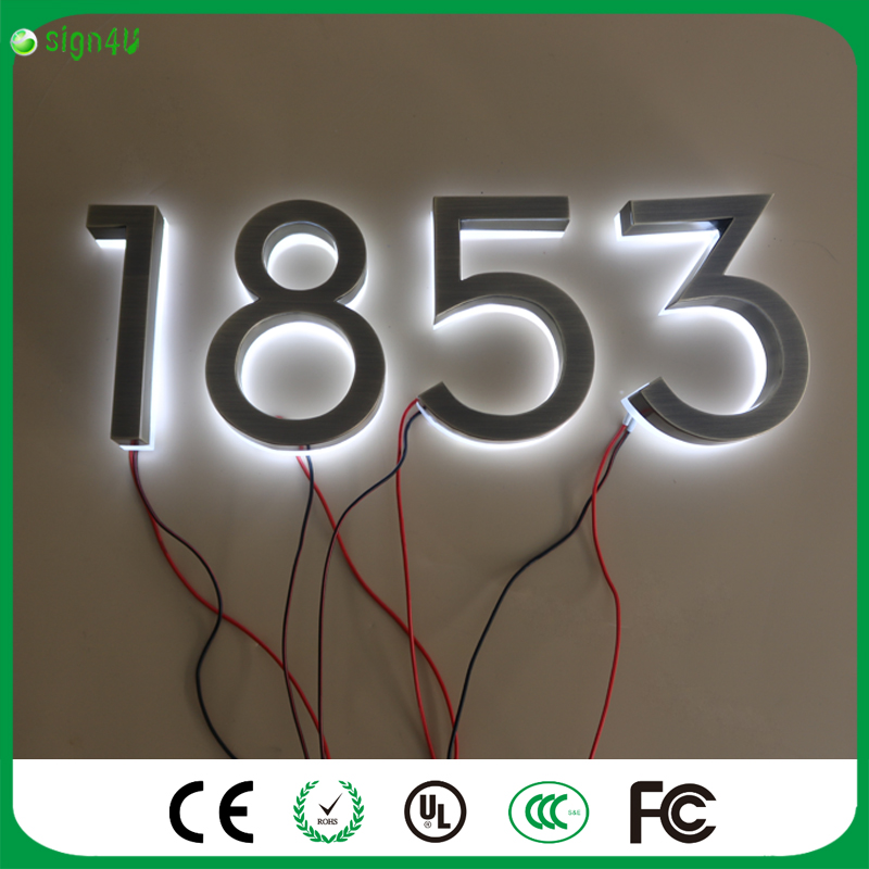 Factory Outlet Wholesale stainless steel backlit house number led<br><br>Aliexpress