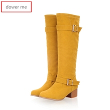 dower me 2017 winter women's boots, boots, women's shoes, shoes, snow boots, a pair of knighthood, size 34-43,