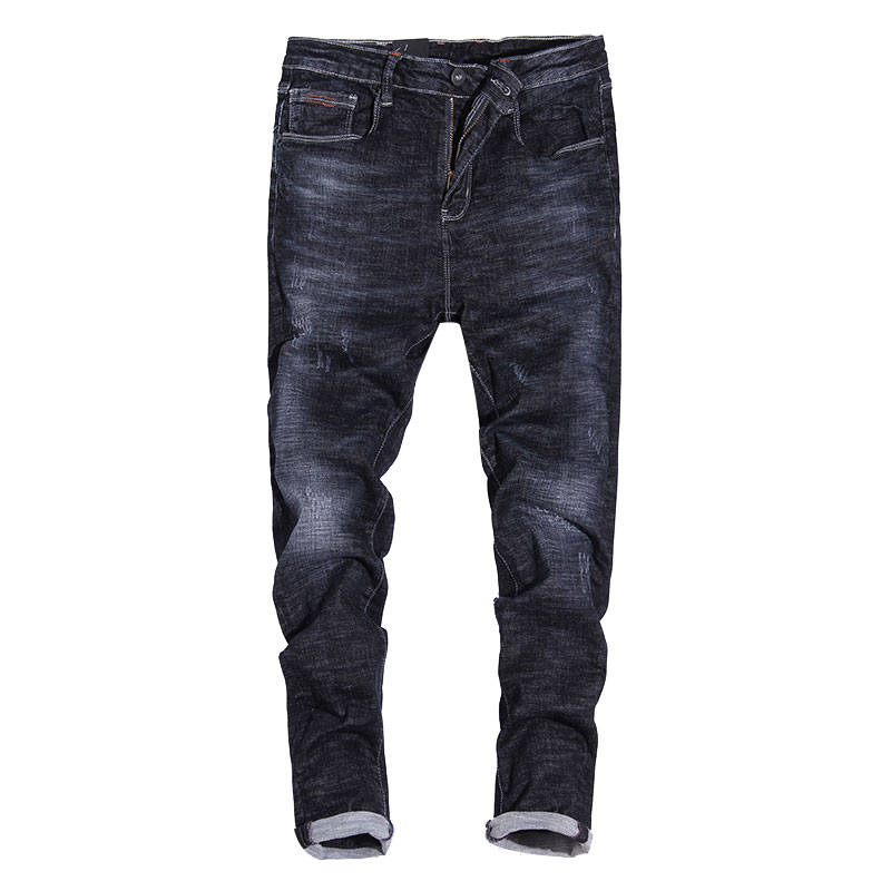 2017 New Fashion Mens Jeans Retro Vintage Slim Fit Elastic Denim Pants Ripped Jeans Men Dark Color Balplein Brand Skinny JeansÎäåæäà è àêñåññóàðû<br><br>