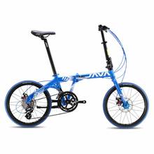 New High Quality JAVA 20-inch Alloy Double Disc Brake Folding Bike 16 Speed(China)