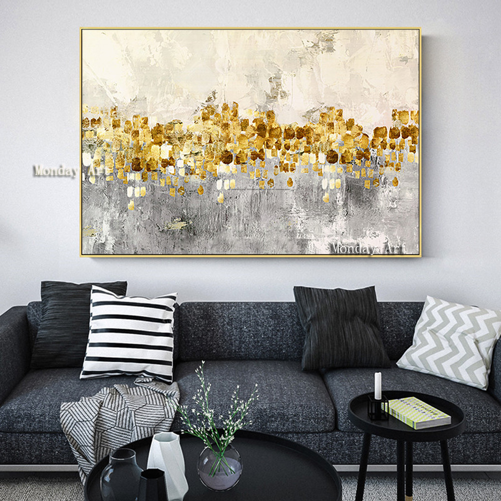Canvas-painting-acrylic-gold-art-modern-abstract-painting-quadro-cuadros-decoracion-Wall-art-Pictures-for-living (2)