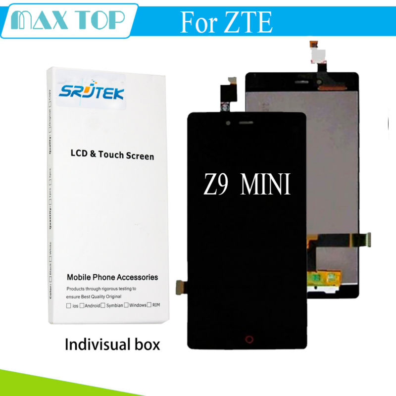 100% Tested Lcd screen display+Touch screen digitizer For ZTE Nubia Z9 mini NX511j black/white free shipping<br>
