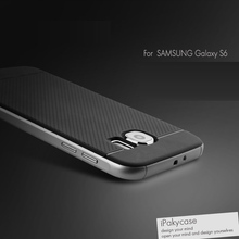 Amazing top quality ipaky brand case for Samsung galaxy S6 phone shell silicone protective case for galaxy S6, in stock(China)