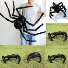 30/50/75cm Large Spider Made Of Wire And Plush Two Style Funny Toy Props Spider For Party Bar KTV Halloween Decoration