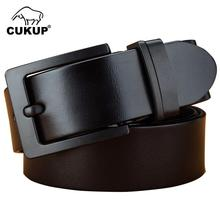 Buy CUKUP Top Lengthened Cowhide Leather Belts Men Mens Black Pin Buckle Metal 100% Cowskin 160cm Belt Male NCK597 for $42.64 in AliExpress store
