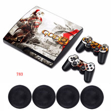 God of War Custom Sticker Viny Host Protective Film Skin Case &2x Controller Decals For Sony Playstation3 PS3 Slim Console(China)