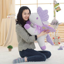 Cartoon 15-70cm Purple Horse plush toys stuffed plush unicorn doll mobile phone seat small pendant big doll Christmas present(China)