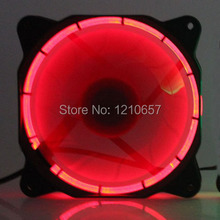 1PCS 12V 3Pin 4Pin 120mm Eclipse Fan LED Red For Computer PC Case Cooling(China)