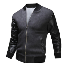 2017 New Baseball Uniform Jacket Fight Skin Warm Washed Leather Men's Clothing High Quality Casual Men Jacket Coat(China)