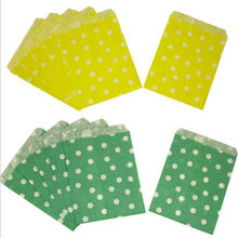 25pcs/lo Polka Dot Paper Bags Popcorn Bags Party Food Paper Bag Wedding Birthday Party Supplies 13x18cm