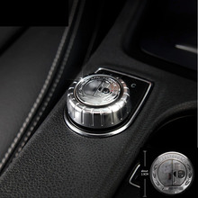 1 Pc Car Multimedia Button Stickers Air-condition Control Button Covers For Mercedes Benz GLA A B GLE ML CLA Accessories