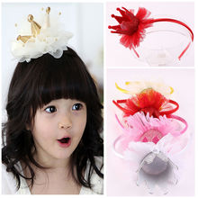 1 Pc Lovely Princess Imperial Crown Headband Girl Hair Accessories Tiara Hairbands Bling Head Dress Turban