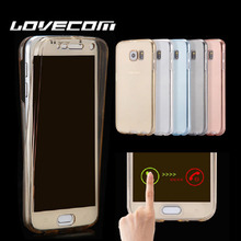 LOVECOM For Samsung A3 A5 A7 A8 J1 J2 J3 J5 J7 (2015)(2016)(2017) Full Body Cover Ultrathin Clear TPU Soft  Double Phone Cases