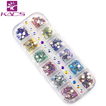 KADS AB 4mm Cone Colorful Nail Art Decorations Rhinestone 600PCS  in 12 Color for rhinestone for nail art