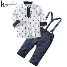 KEAIYOUHUO Baby Boy Clothes Sets Winter Children Clothing Boys Set Toddler Christmas Gentlema Suit Long Sleeve Kids Clothes Sets