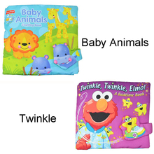 Soft Play Goodnight 3D Washable Cloth Book Baby Twinkle Elmo Animal Hippo lion Rainforest Early Education Multifunctional Toys