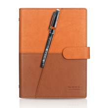 Drop verschiffen Braun Löschbaren Notebook PU Wiederverwendbare Smart Wirebound Notebook pocket Wolke Flash Lagerung caderno inteligente(China)