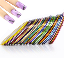 nail art decoration Multicolor Rolls Strip Striping Tape Line Wrap Sticker Tips Decoration DIY Nail Art Manicure Professional(China)