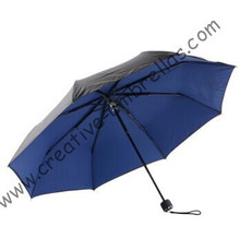 Anti-rust umbrellas ,three fold, summer parasol,hand open,windproof,bag parasol,UV protecting,navy blue coating,pantone colour