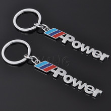 Car Power Logo Keychain Key Chain Keyring Key Ring For Mercedes BMW M X 3 5 6 Audi Ford Honda Toyota VW Dodge Jeep Car Styling(China)