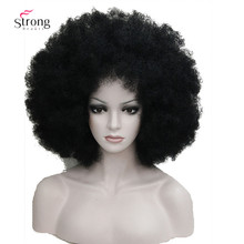 Afro Jumbo Festival Fans Wig clown Costume Halloween Dress Up party Wigs Synthetic Hair COLOUR CHOICES(China)