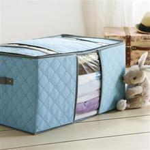 Free shipping Bamboo clothing storage box clothes finishing box quilt storage bag 54*37*28cm wholesale