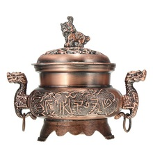 New Alloy Double Dragon Hollow Cover Incense Burner Censer for Cone Incense Holder Aromatherapy Home Decor Ornaments Gifts