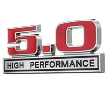 3D Metal 5.0 High Performance Car Emblem Badge Sticker Decal For Ford -Mustang(China)