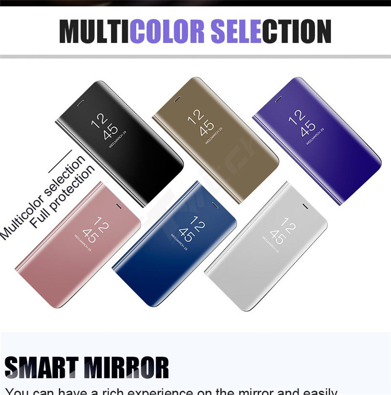 SHUOHU Luxury Case for iPhone 8 7 6 6 S Plus Ultra Slim Mirror Smart Case for iPhone 8 iPhone 7 Cover Phone Holder for iPhone X 11