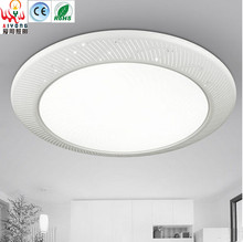 Iron LED acrylic ceiling lamps circular light emitting diode atmospheric fashion living room lights simple bedroom lamp