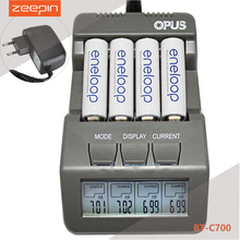 Opus BT-C700 NiCd NiMh LCD Digital Intelligent  AAA 14500 AA Battery Charger Updated From BM110 EU US Adapter