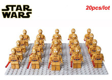 20pcs/lot STAR WARS C3PO C-3PO Classic Droids Gold 9490 10236 sw365 COMPATIBLE LEGAOE building block toys for children gifts