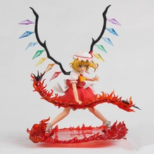 "Free Shipping 10"" Griffon Enterprises Touhou Project Flandre Scarlet Red Sword Boxed 25cm PVC Action Figure Collection Model Toy(China)"