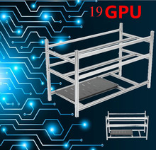 Buy Stackable Open Air Mining Rig Frame Miner Case 19 GPU ETC BTH 3 Power Supply New Computer Mining Case Frame Server Chassis for $145.99 in AliExpress store