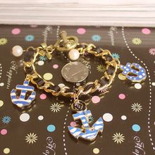 Fashion bracelet 2014 Fashion is pure and fresh quietly elegant of new contracted navy logo elements bracelet 0213 more