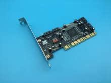 High Quality PCI to 4 SATA Raid Card Support Low Profile Bracket Chip For SIlicom Image 3114