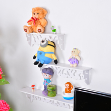 Urijk S/M/L Wood Plastic Composite White Wall Hanging Shelf Goods Convenient Rack Storage Holder Home Bedroom Decoration Ledge(China)