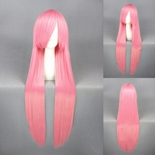 100cm Momoi Satsuki Kuroko No Basuke Wig Cosplay For Costume Party Heat Resistant Synthetic Straight Long Pink Hair Free Ship